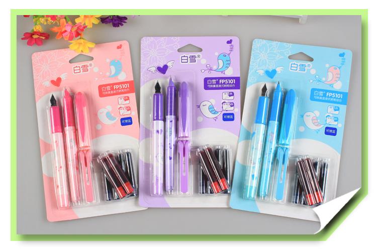 新品直液式换囊钢笔小学生专用新型钢笔可爱批发黑水
