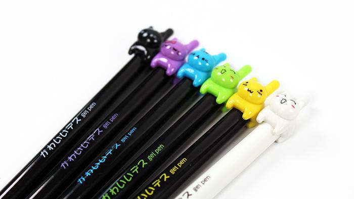 【文匠墨语】韩国点石ds-045按动全针管中性笔创意可爱萌宠水笔
