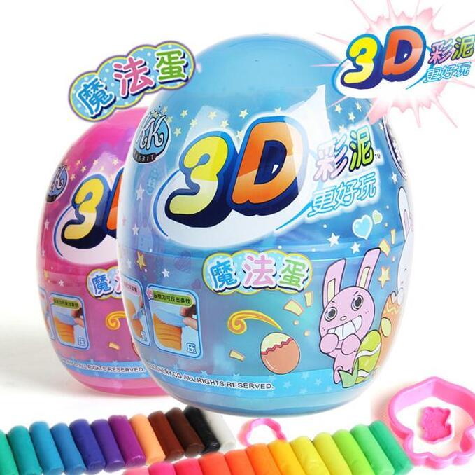 智高KK3D彩泥魔法蛋模具kk-332 12/24色益智玩具橡皮泥套装 k-333