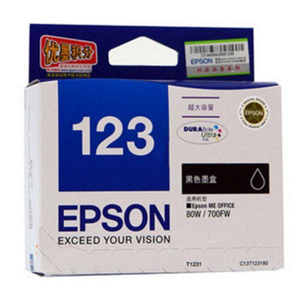 爱普生打印机墨盒T1231 黑色