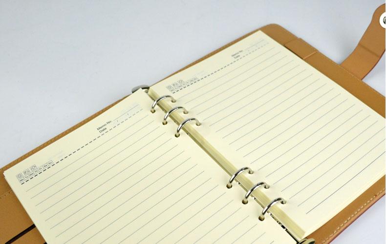 纸品本册  皮面笔记本  申士19125 活页笔记本