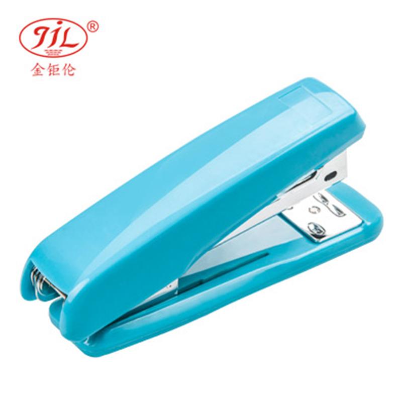 金钜伦 订书机 JS1005A 时尚型塑胶订书机 12#、26/6 混色