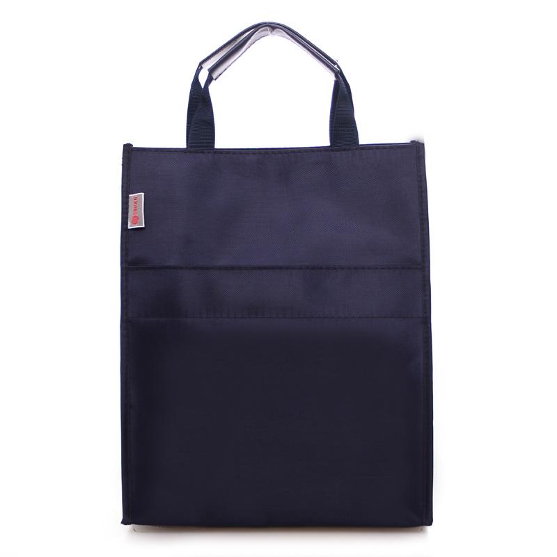 斯莫尔314双层手提文件袋 蓝/红