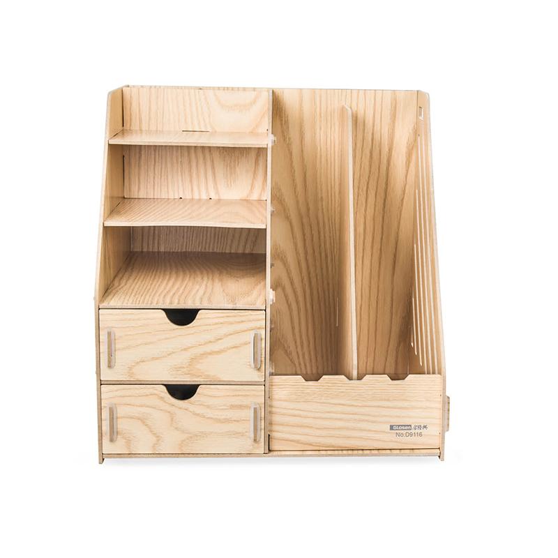 金隆兴 D9116木纹带笔筒桌面收纳盒