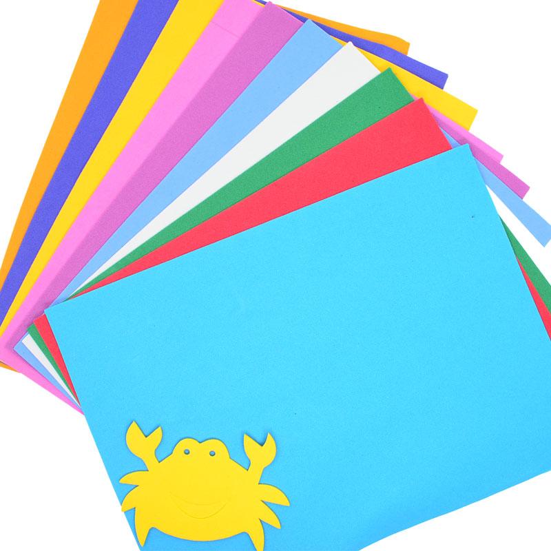 海绵纸eva彩色泡沫纸幼儿园手工材料彩纸折纸-集迈么