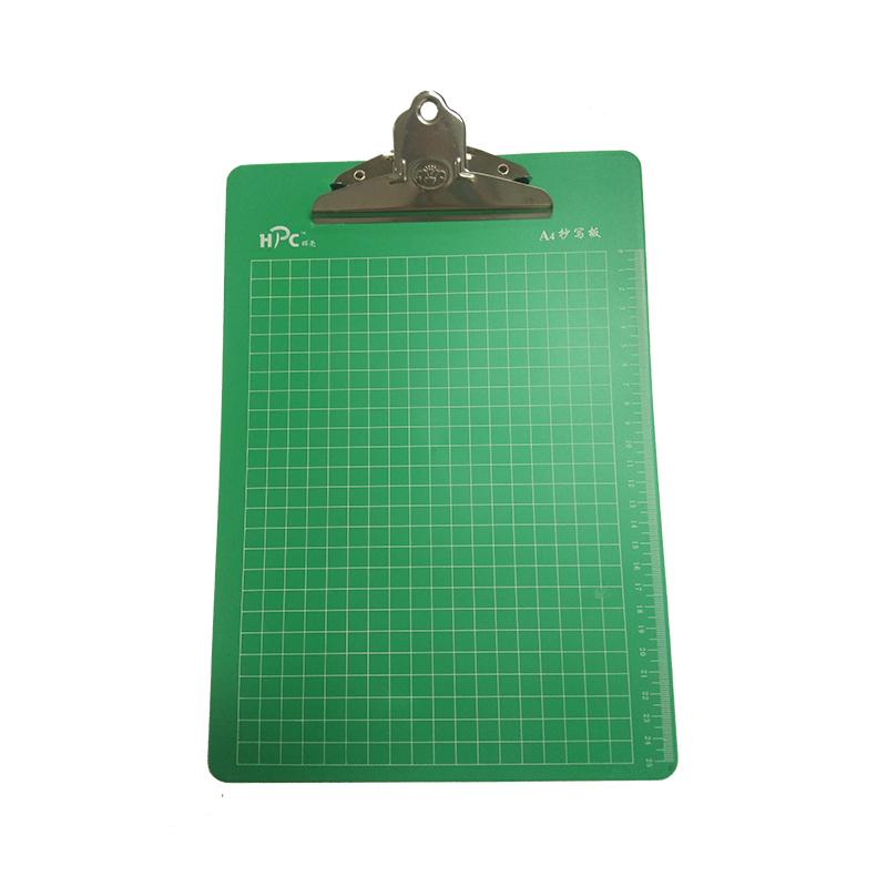 辉亮HP-402 A4实色强力夹 蝴蝶夹(绿色)写字板