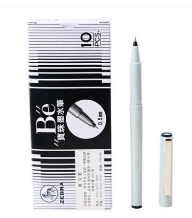 斑马签字笔BE-100-BK 0.5mm黑色