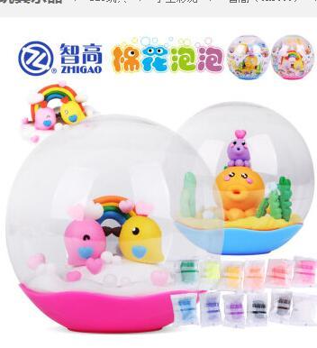 智高 KK奇妙箱 棉花泡泡水晶球儿童益智DIY橡皮泥玩具 KK-9168 小水晶球