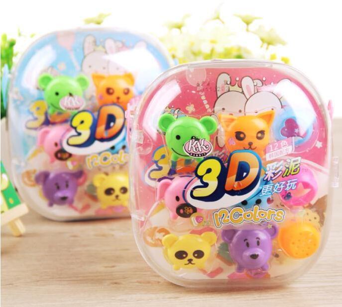 智高kk3D彩泥 12色 5030动物模具礼盒套装儿童益智玩具