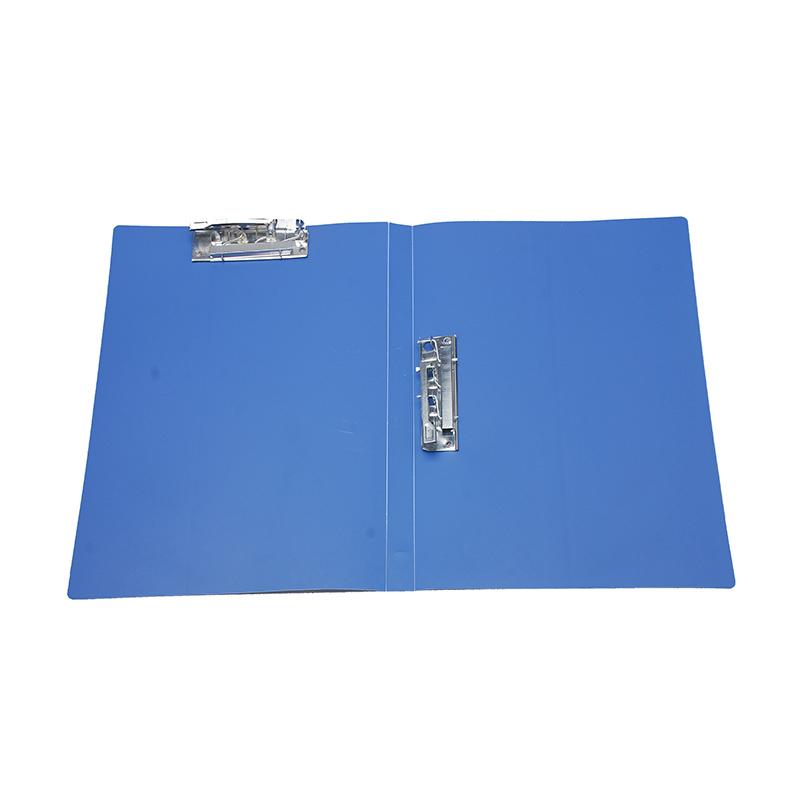 世宝  S-202B 双强力夹文件夹 贴背条/72C 美蓝