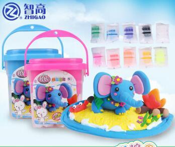 智高(ZHIGAO)手提桶KK棉花泡泡 儿童益智DIY橡皮泥玩具 KK-9050