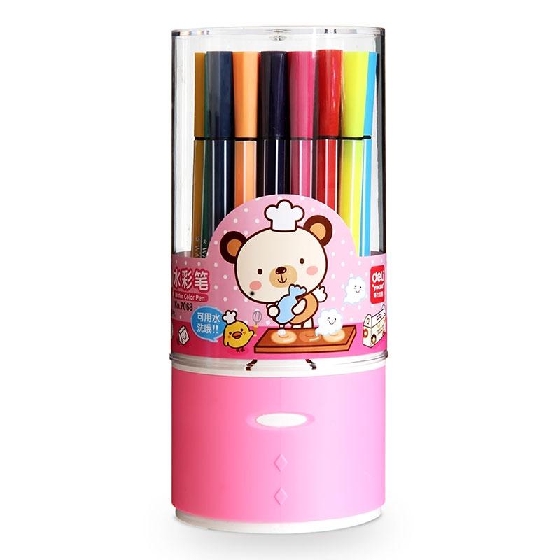 丫可水洗 苗条水彩笔 儿童画画 笔文具彩色笔
